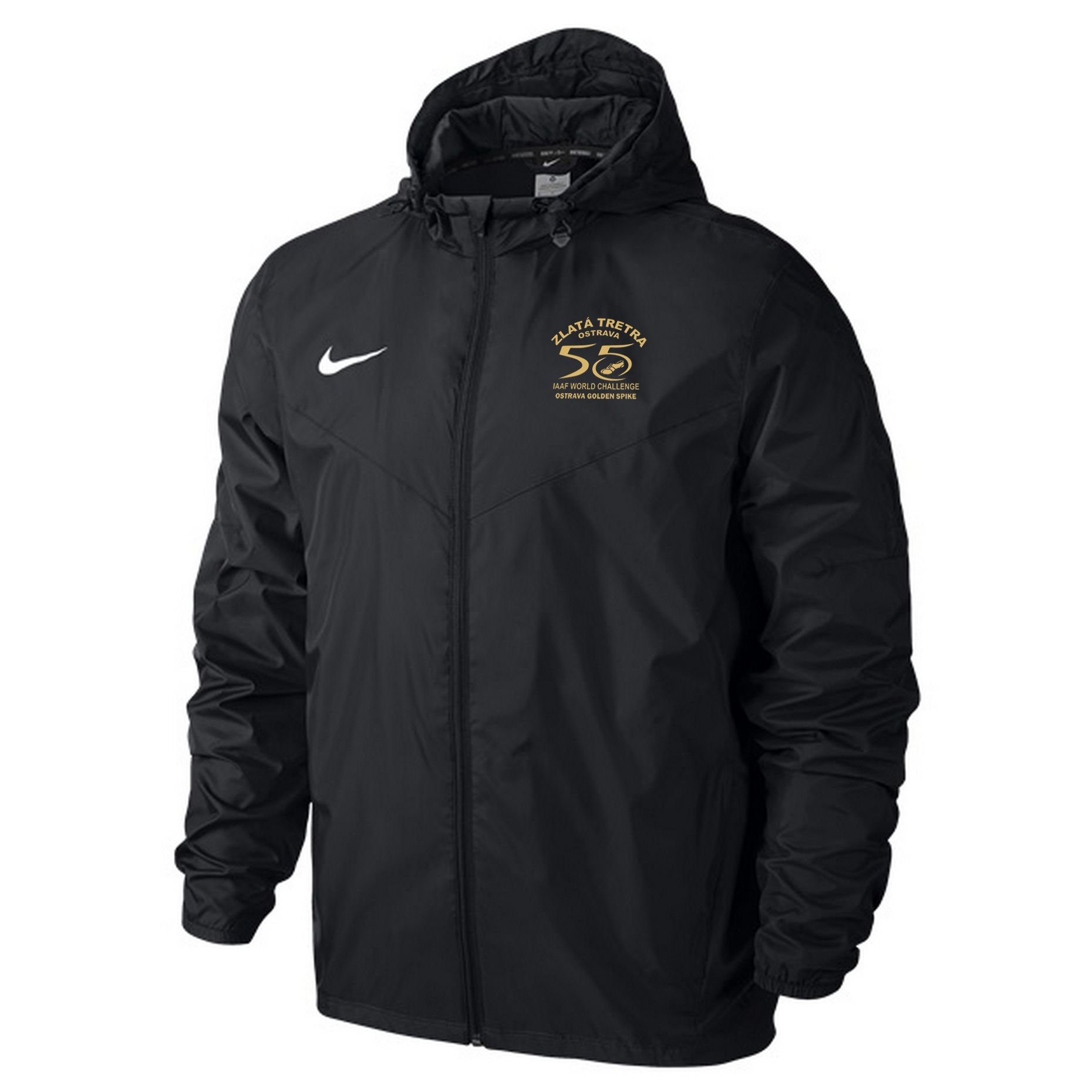 Bunda s kapucí Nike Team Sideline Rain Jacket Zlata tretra