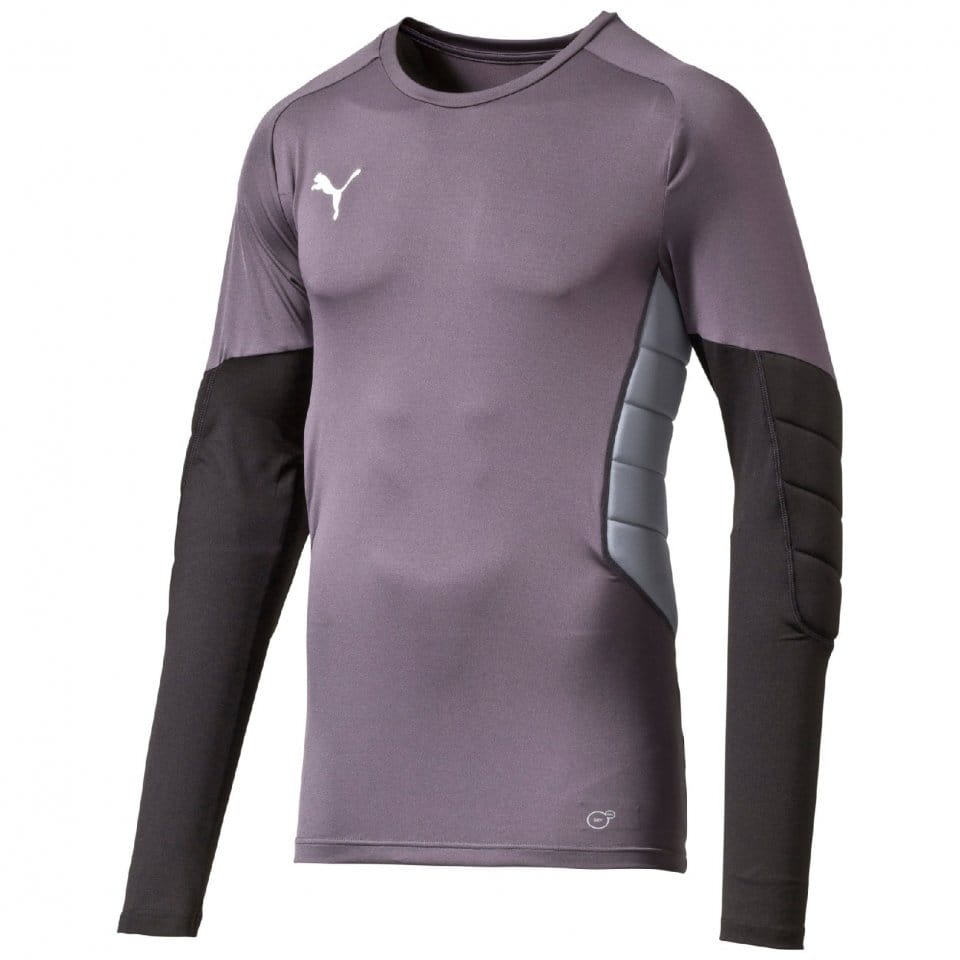 Kompressions-T-Shirt Puma GK Padded Shirt ebony-black-tradewinds