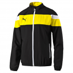 Bunda Puma Spirit II Woven Jacket black-cyber yello