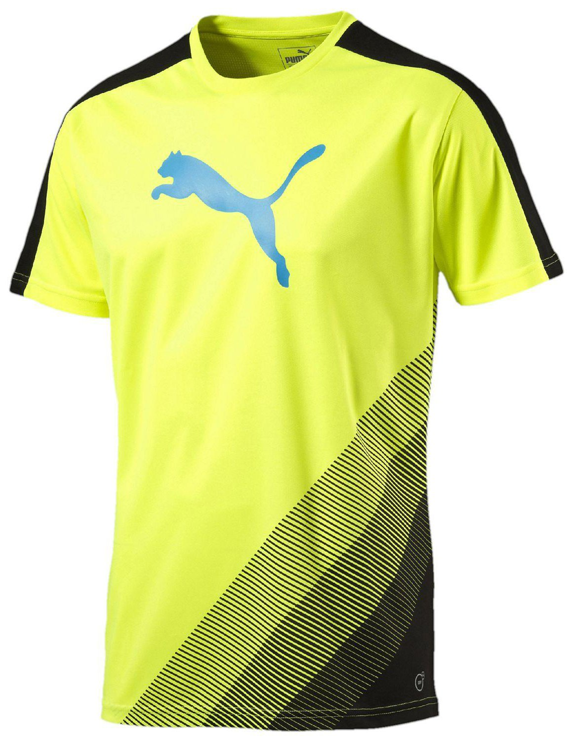 Triko Puma IT evoTRG Cat Graphic Tee safety yellow-