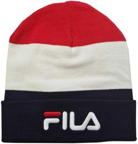 BLOCKED SLOUCHY BEANIE with linear logo