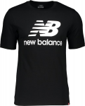 M NB ESSENTIALS STACKED LOGO SS TEE