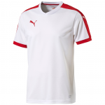 Šortky Puma Pitch Shortsleeved Shirt white- red