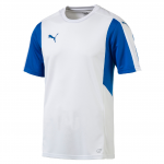 Dres Puma Dominate SS Shirt White- Royal