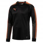 GK LS Shirt Black-Fluo Orange