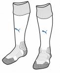 Team LIGA Socks White-Electric Blue