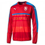 Mikina Puma Czech Republic Training Sweat chili pepp