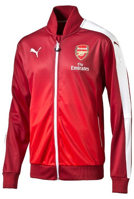 Bunda Puma Arsenal Stadium Jacket rio red-high risk
