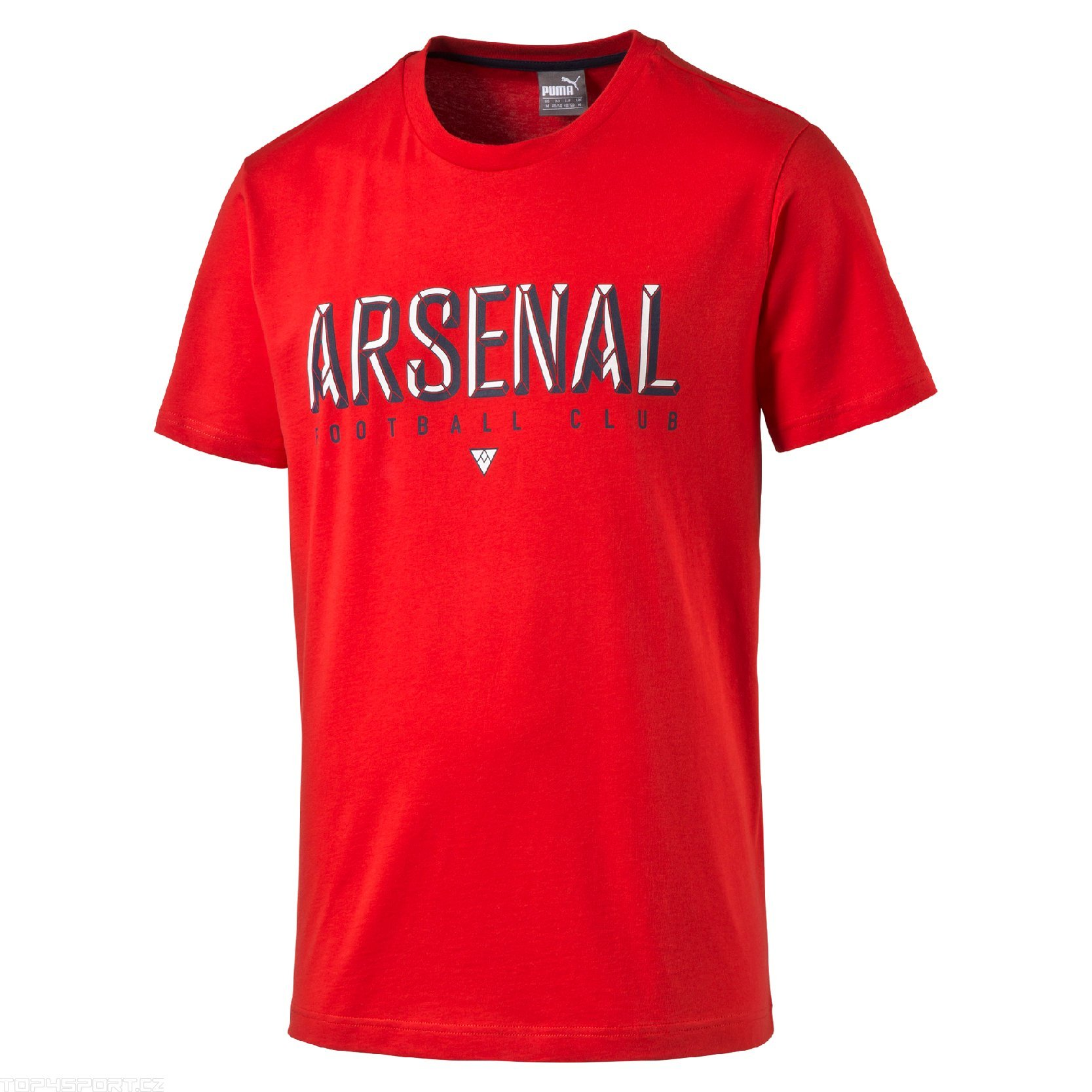 T shirt puma arsenal fan tee high risk red for Arsenal t shirts sale