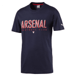 Arsenal Fan Tee black iris