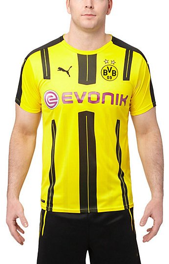 Dres Puma BVB Home Replica Shirt with Sponsor Logo