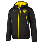Bunda s kapucí Puma BVB Reversible Jacket black-cyber yellow