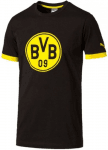 BVB Badge Tee black-cyber yellow