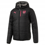 Bunda s kapucí Puma AFC Reversible Jkt Black-Steel Gray