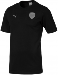 Arsenal FC Fan SLOGAN Tee Black