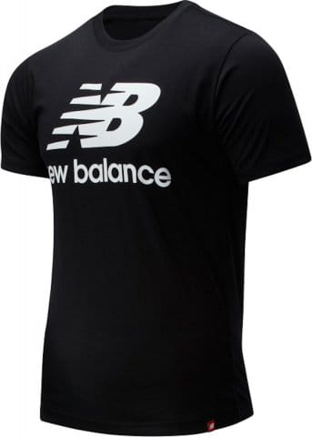 M NB ESSENTIALS STACKED LOGO TEE