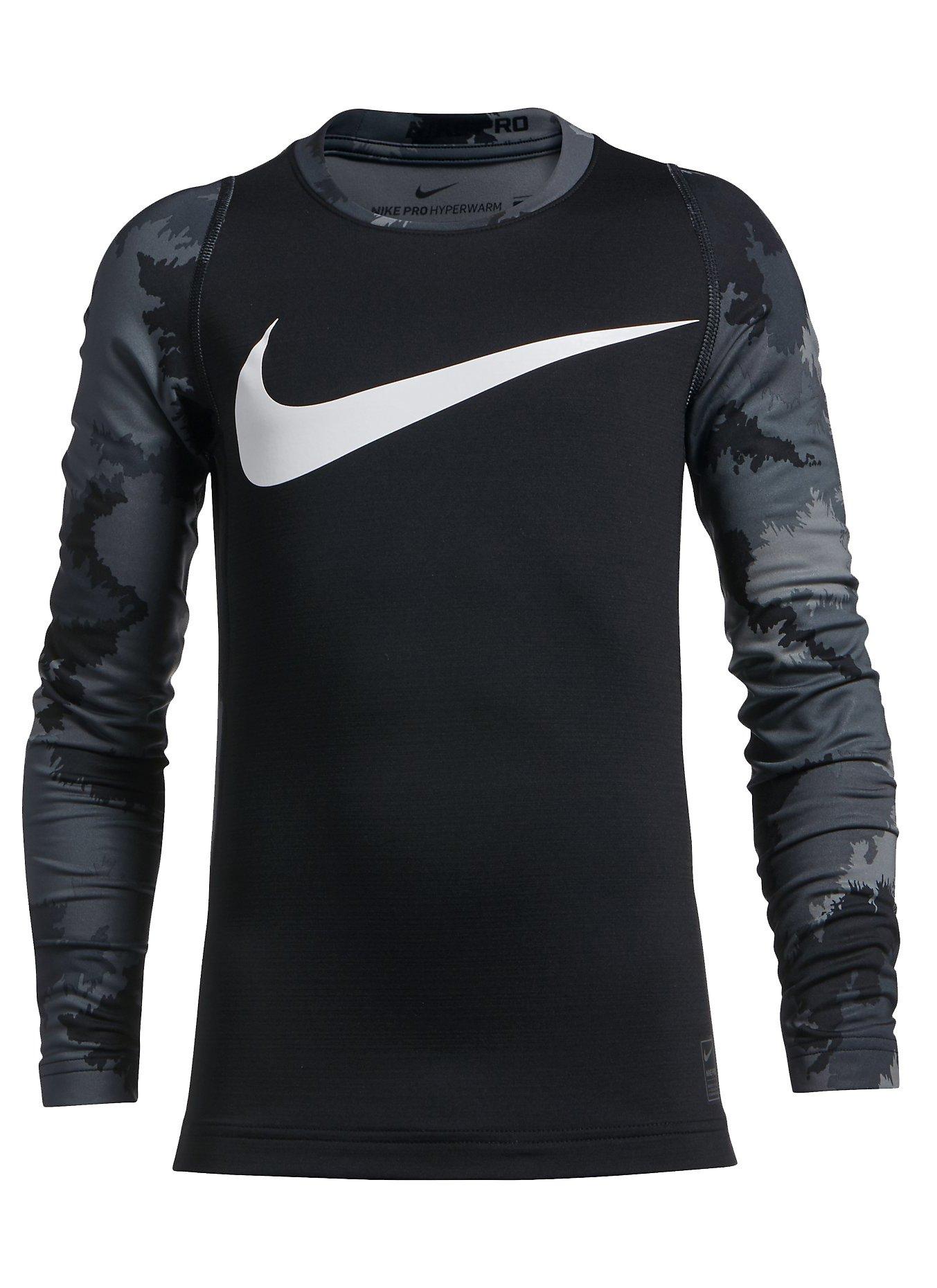 Tričko Nike Pro Hyperwarm AOP Crew