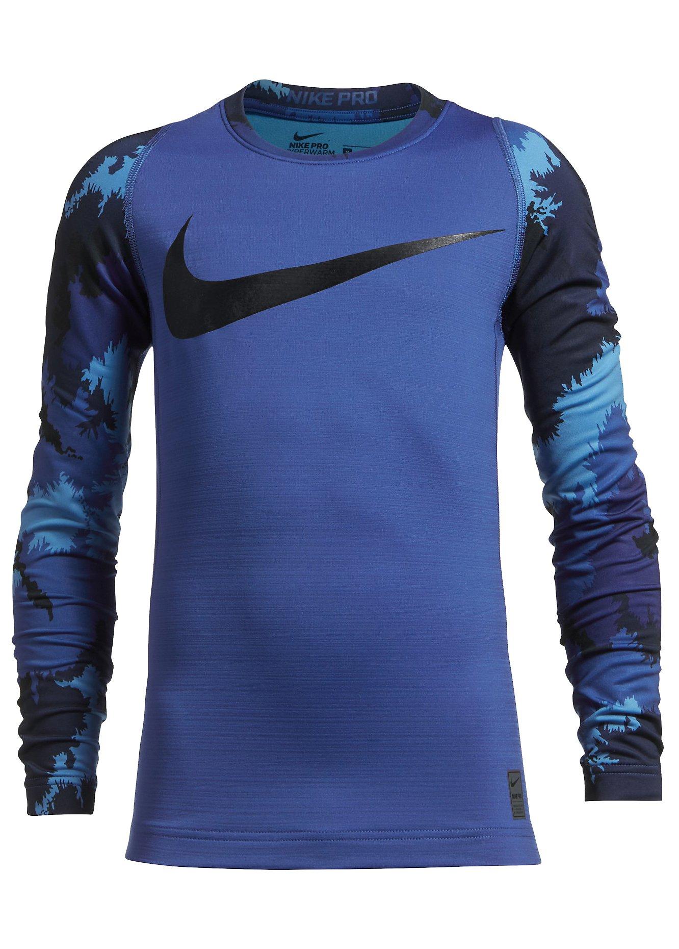 Tričko s dlhým rukávom Nike B NP HPRWM TOP LS AOP CREW