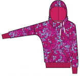 Fun Graphic Hoodie- Fleece cerise-allove