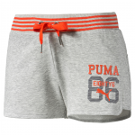 Šortky Puma STYLE ATHL Shorts W light gray heather