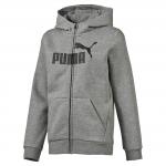 Mikina s kapucí Puma ESS No.1 FZ Hoody, FL Medium Gray Heathe