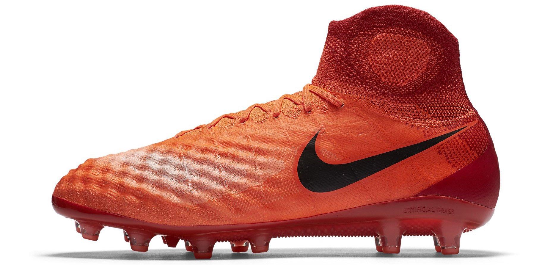 Nike Magista Obra II FG Sccer Cleats OrangeYellwBlack White Outlet