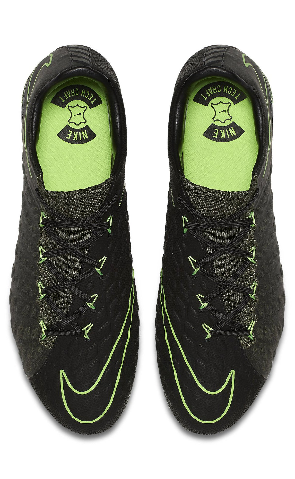Nike Hypervenom Phantom III DF Tech Craft FG - Black/Electric Green/Sequoia