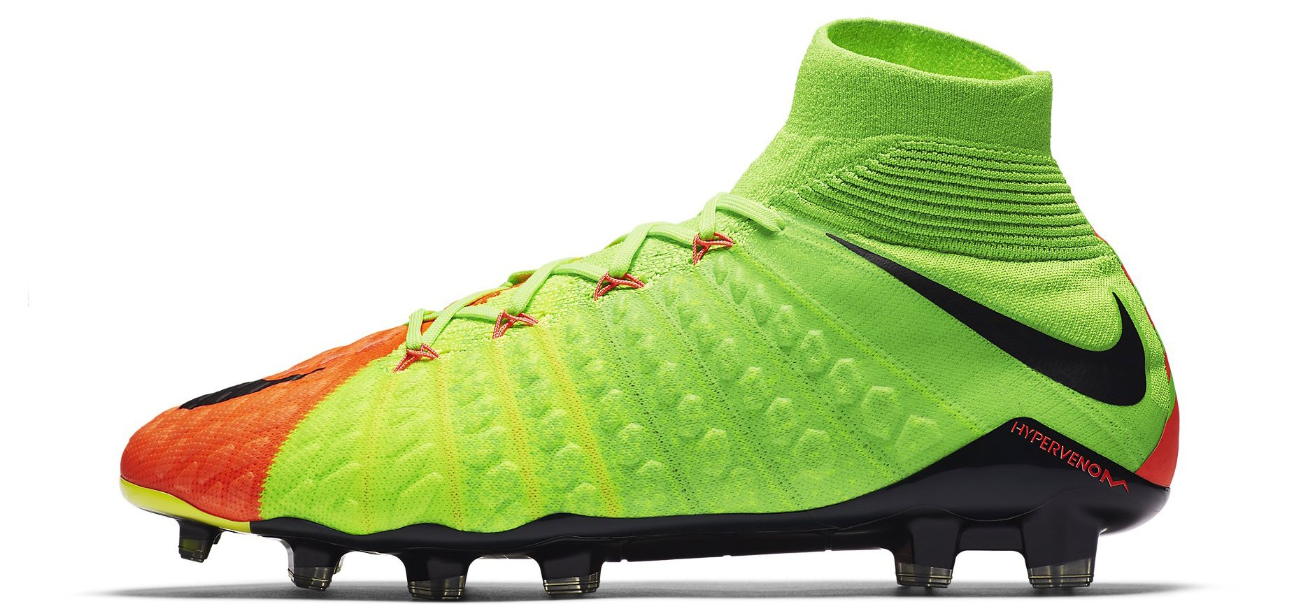 Nike Hypervenom Phantom 3 SG-PRO Anti-Clog Radiation Flare - Electric Green/Black/Hyper Orange