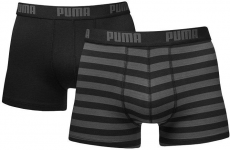 STRIPE 1515 BOXER 2P black