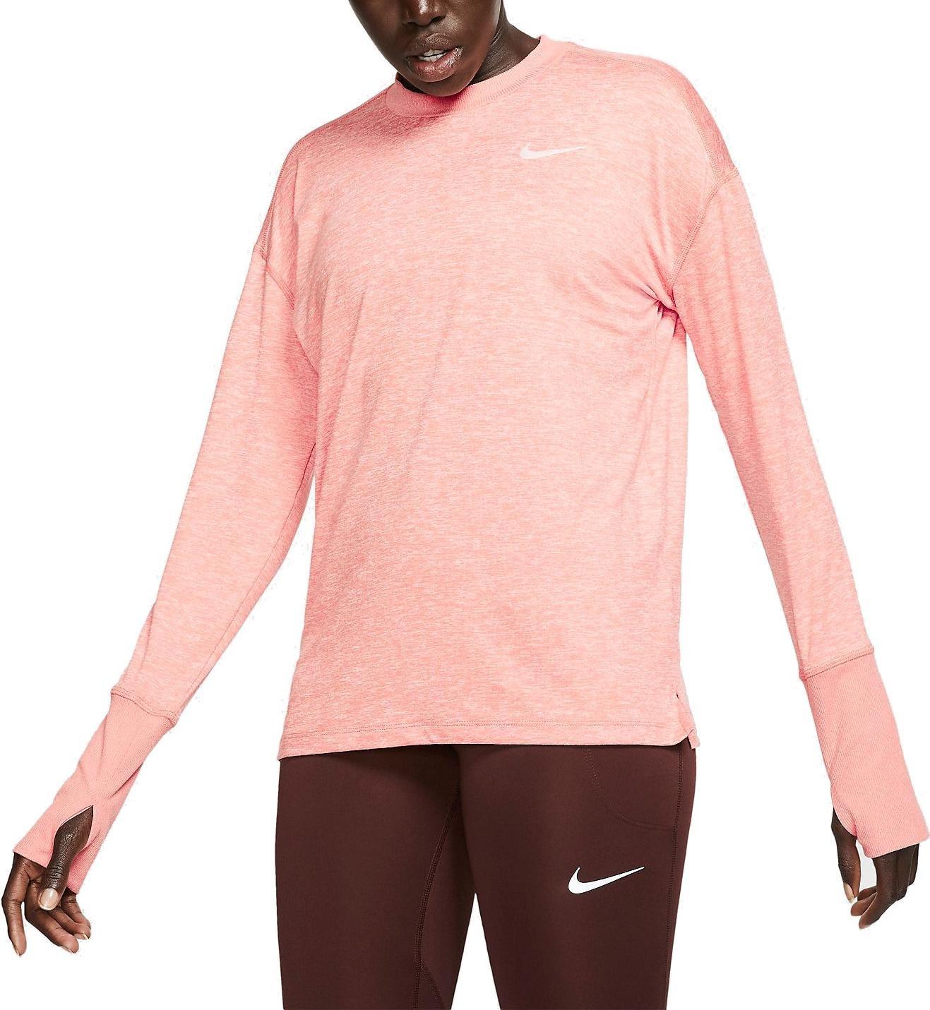 Dámský běžecký top s dlouhým rukávem Nike