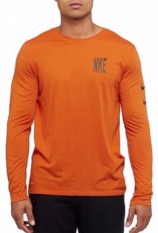 Triko s dlouhým rukávem Nike M NK DRY TEE DBL LS RUN DVSN