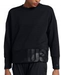 Triko s dlouhým rukávem Nike W NK DRY TOP CREW DBL GRX FA