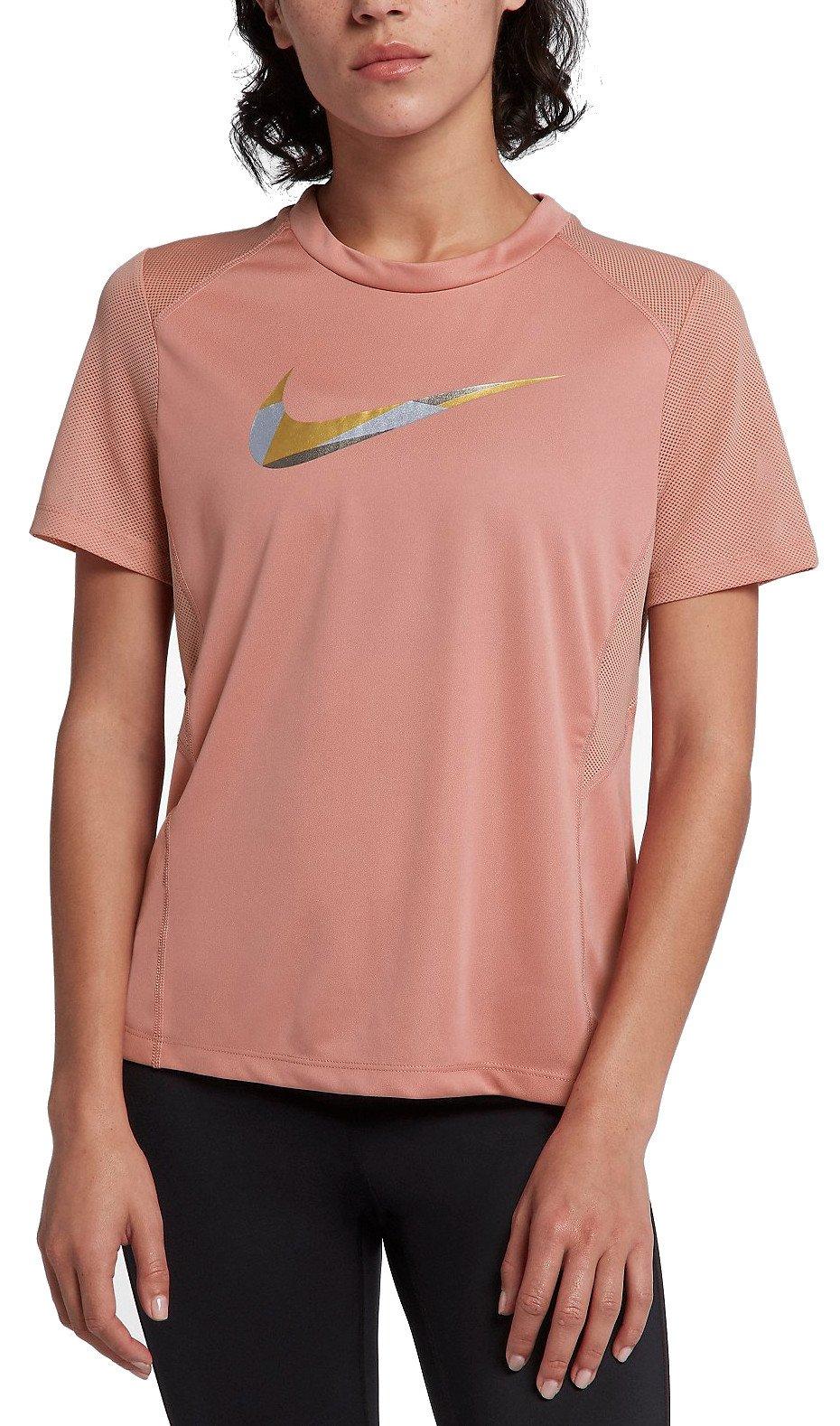 Dámské běžecké tričko s krátkým rukávem Nike Dry Miler Metalic
