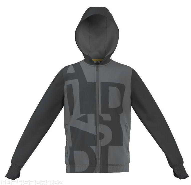 Mikina s kapucí adidas YB LR B FZ HOOD