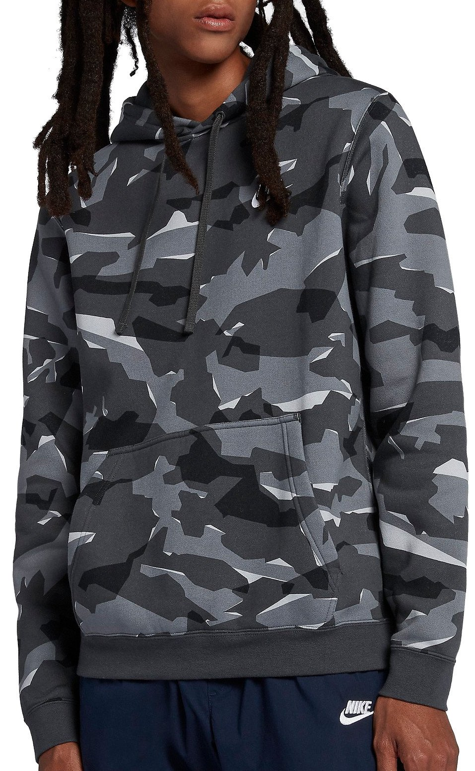 4316b1e94 Hooded sweatshirt Nike M NSW CLUB CAMO HOODIE PO BB - WPsoccer