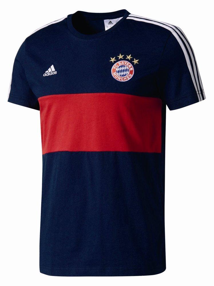 Pánské triko s krátkým rukávem adidas FCB 3-Stripes