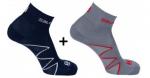 Ponožky Salomon XA PRO 2 PACK Nightshade/INFRARED