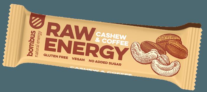 Tyčinka Bombus Raw Protein CASHEW & COFFEE