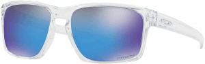 OAKLEY Sliver Polished Clear w/ PRIZM Sapph