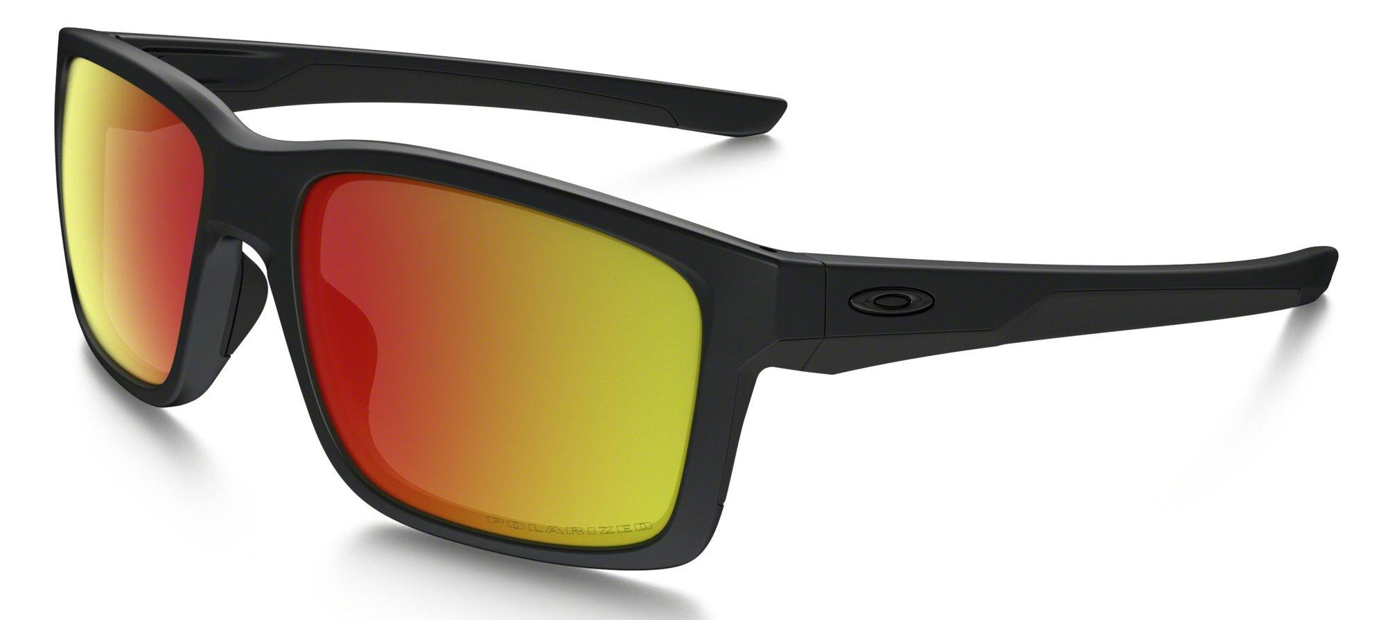 Sluneční brýle Oakley OAKLEY Mainlink Matte Black w/ Ruby Irid Polar