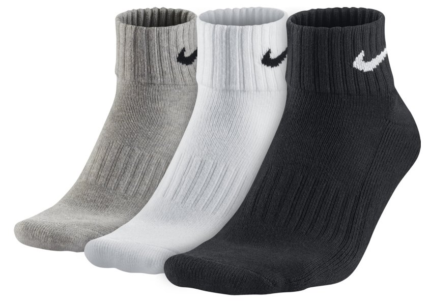 Ponožky Nike Cotton Quarter 3 ks