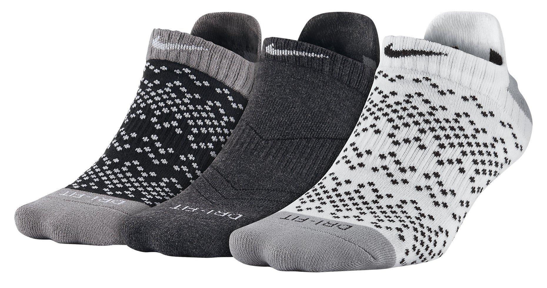 Ponožky Nike Dri-FIT Graphic No-Show Tab 3páry