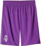 real madrid short away kids 2016/2017 lila
