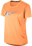 Triko Nike W NK MILER TOP SS HBR1