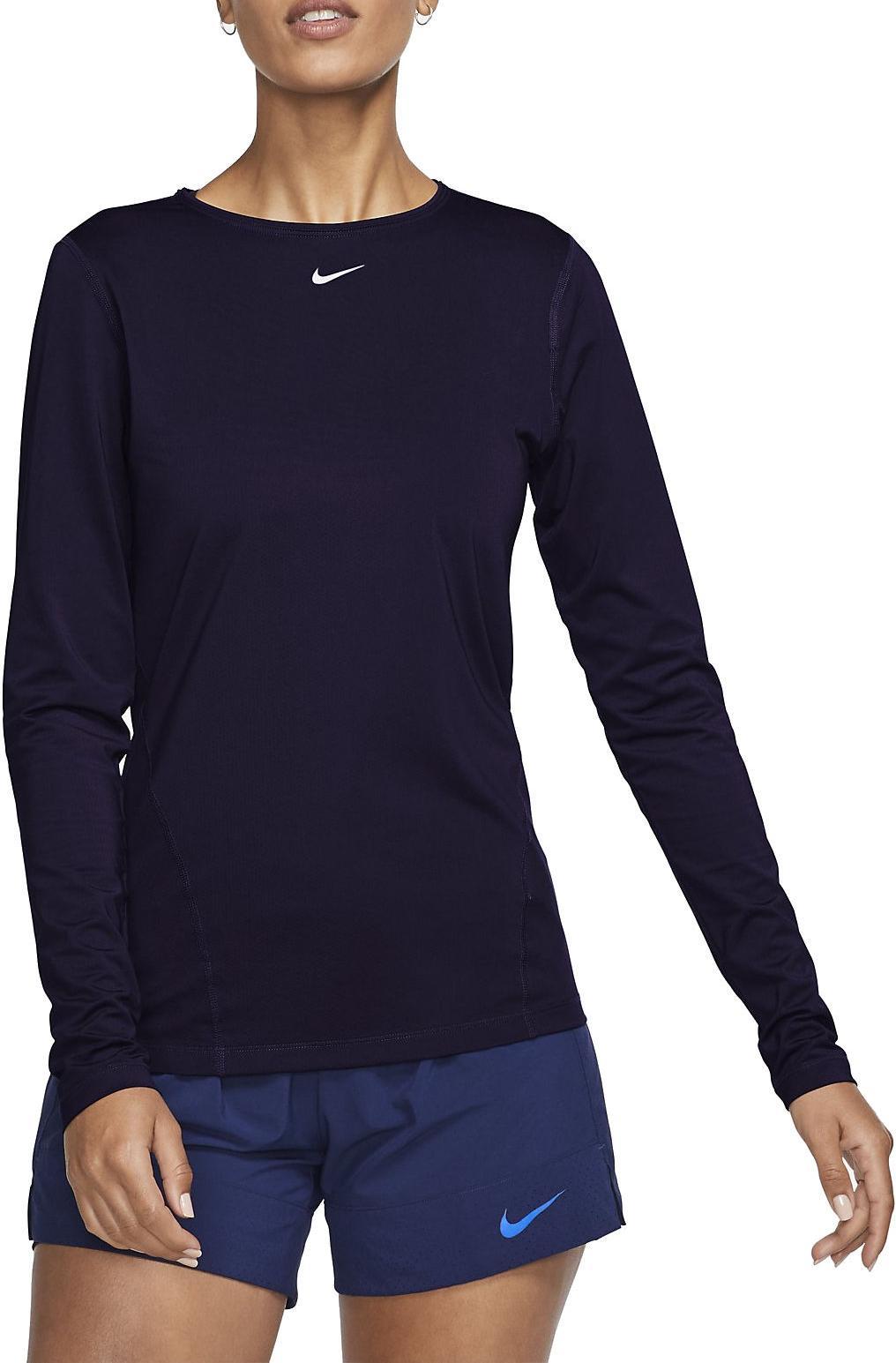 correcto Ligero Hacer la vida  Camiseta de manga larga Nike W NP TOP LS ALL OVER MESH - Top4Fitness.es