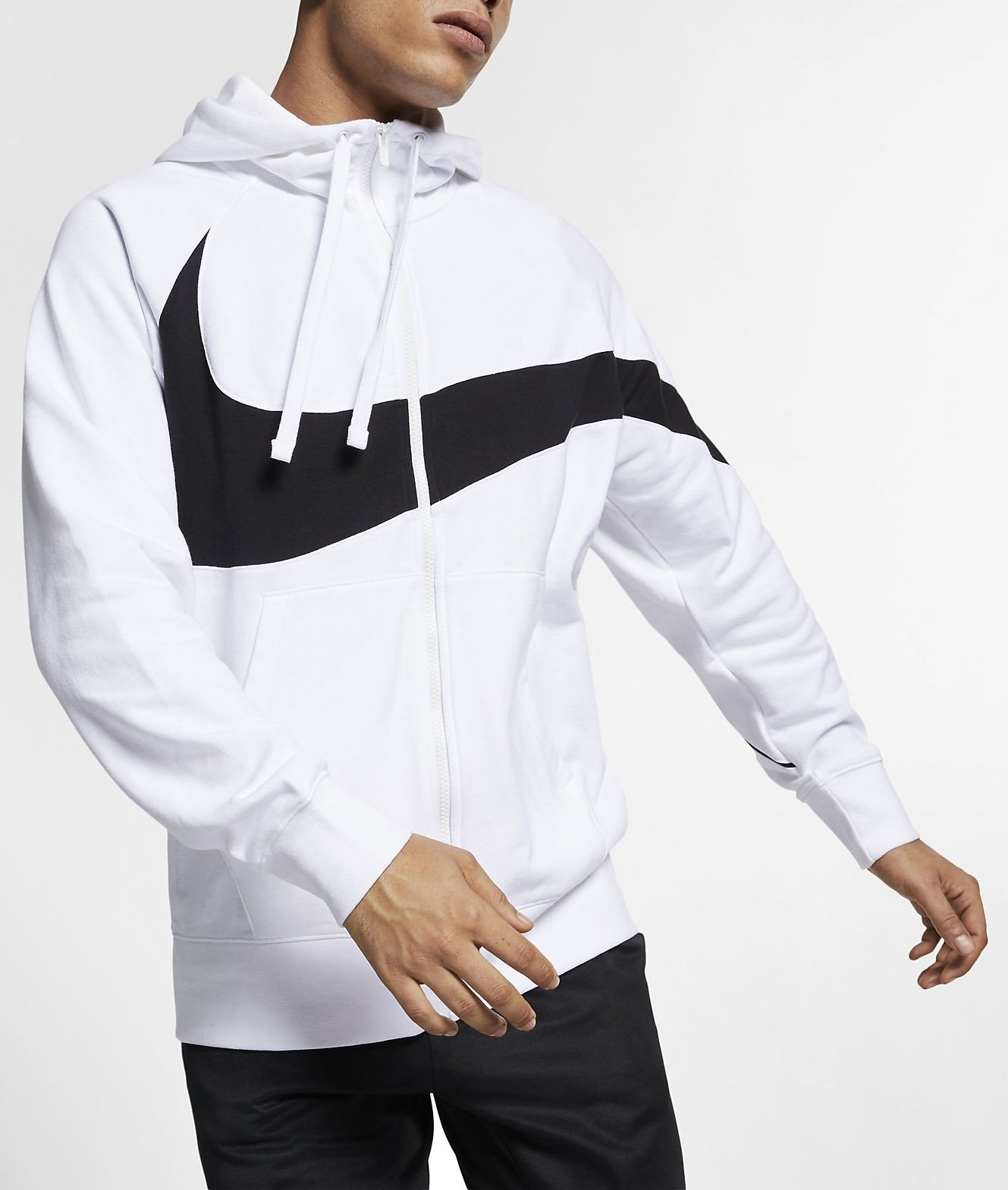Hooded sweatshirt Nike M NSW HBR HOODIE FZ FT STMT