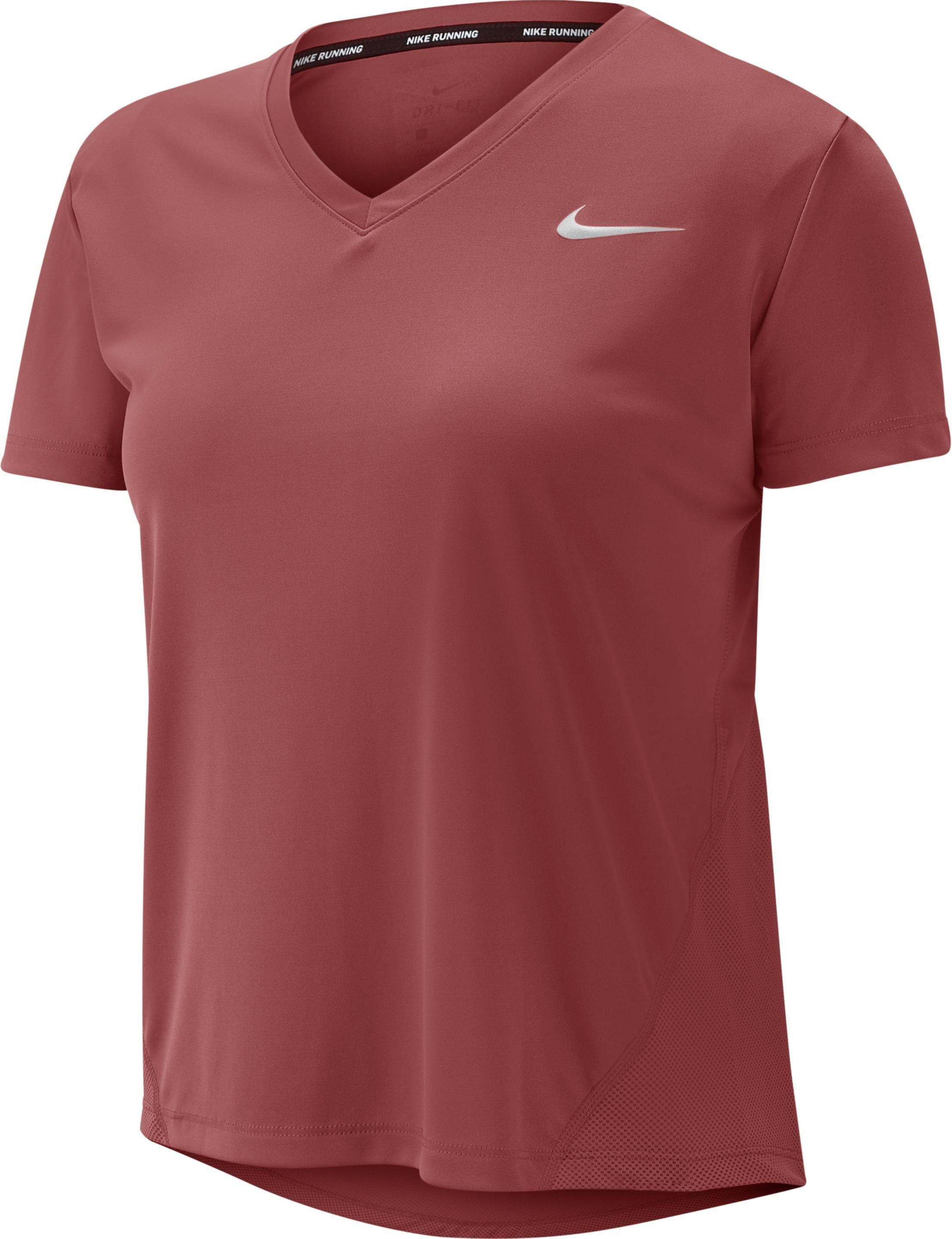 T Shirt Nike W NK MILER TOP VNECK