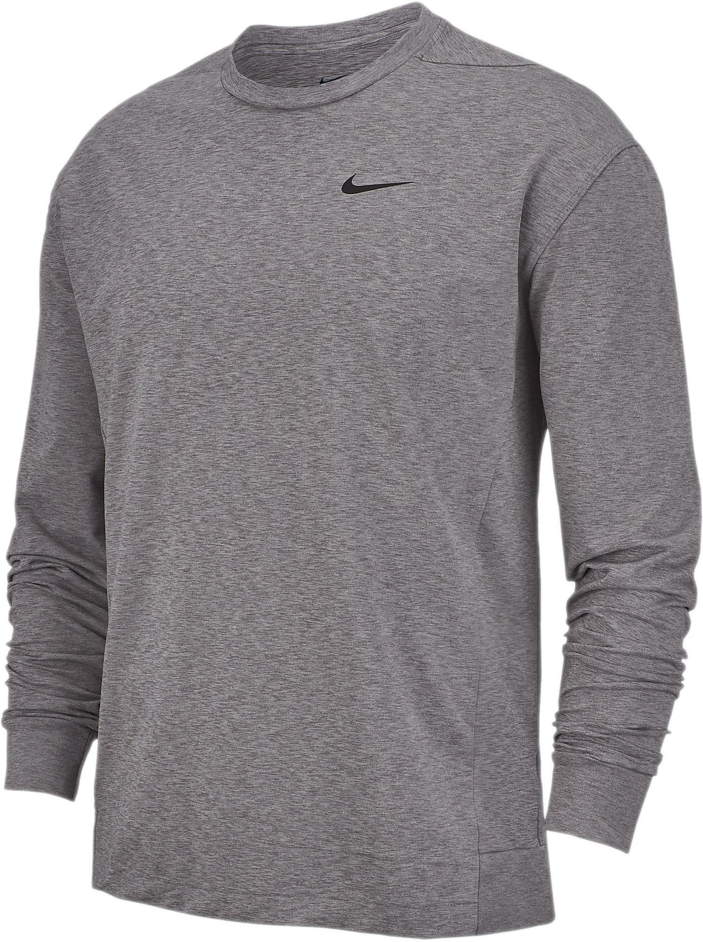 Long sleeve T shirt Nike M NK DRY TOP LS CREW HPRDR LT
