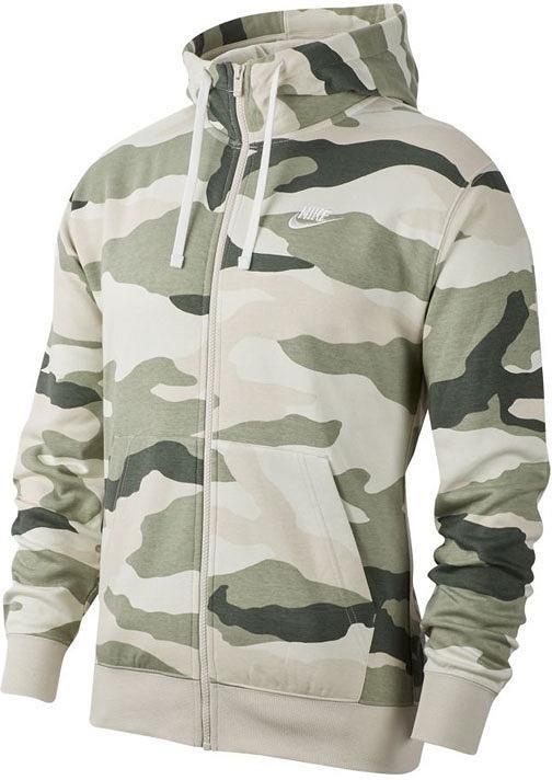 Hooded sweatshirt Nike M NSW CLUB HOODIE FZ BB CAMO