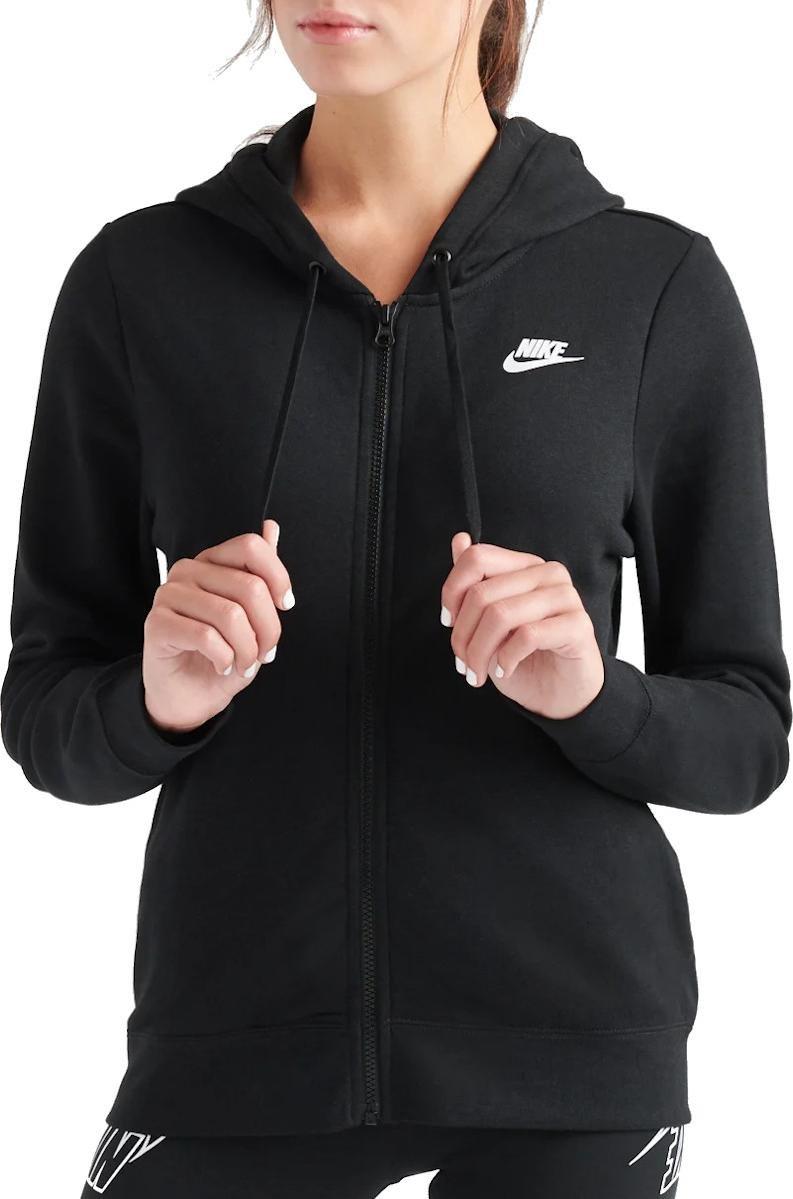 Mikina s kapucňou Nike W NSW CLUB FLC HOODIE FZ